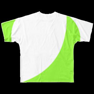 こんな家の木緑 フルグラフィックTシャツ