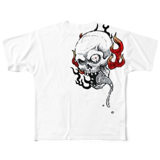火炎髑髏 Full graphic T-shirts