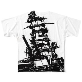 伊勢 最後の咆哮 Full graphic T-shirts