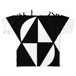 AMTSモノクロ Full graphic T-shirts