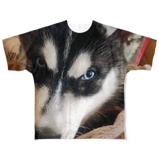 シベリアンハスキー Full graphic T-shirts