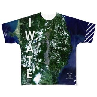 岩手県 花巻市 Tシャツ 両面 Full graphic T-shirts