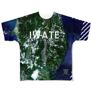 岩手県 紫波郡 Tシャツ 両面 Full graphic T-shirts