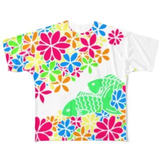魚&花T Full graphic T-shirts