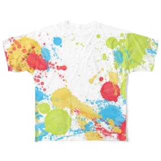 ペンキどばぁあー! Full graphic T-shirts