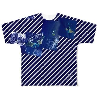 日本 Tシャツ 両面 Full Graphic T-Shirt