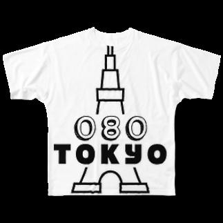 080TOKYOの080TOKYO  Full graphic T-shirts