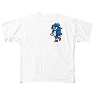 ねこソニック Full graphic T-shirts