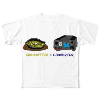 KORNBUTTER × CONVERTER Full graphic T-shirts