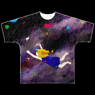 Aibotoshのまこちゃん宇宙旅行 Full graphic T-shirts