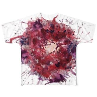 欲に呑まれる Full graphic T-shirts
