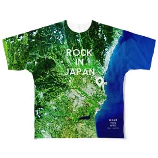 茨城県 ひたちなか市 Tシャツ 両面 Full graphic T-shirts