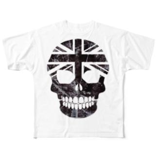 ユニオンジャック✖️スカルTシャツ Full graphic T-shirts