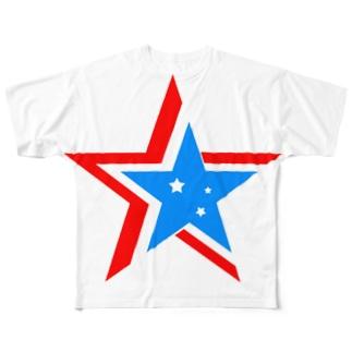 トリプルスター Full graphic T-shirts