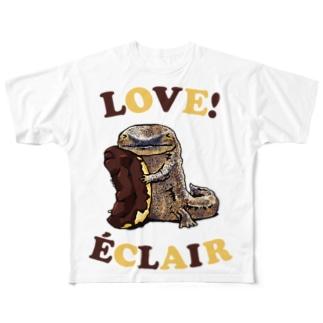 オオサンショウウオとエクレア Full Graphic T-Shirt