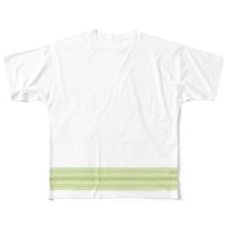 献上柄 緑 Full graphic T-shirts