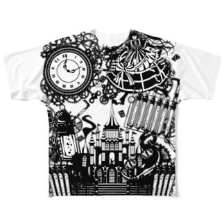 スチームパンク★不思議の国のアリス Full graphic T-shirts