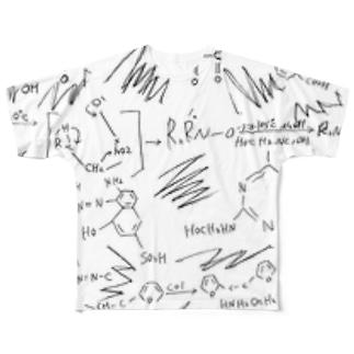 Benzene ring Full graphic T-shirts