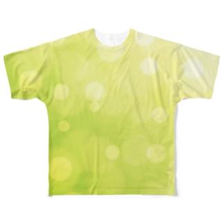 bokeh-green Full graphic T-shirts