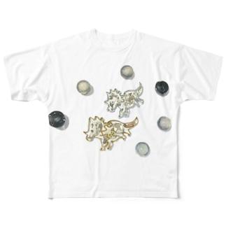 角竜の宇宙さんぽ⋆* Full graphic T-shirts