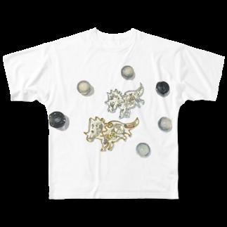 DINO2AVESの角竜の宇宙さんぽ⋆* Full graphic T-shirts
