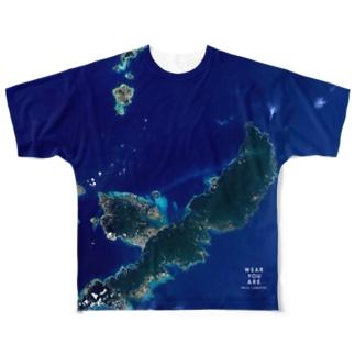 沖縄県 国頭郡 Tシャツ 両面 Full graphic T-shirts