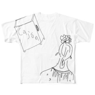 perflaのフラメンコとカホン Full graphic T-shirts