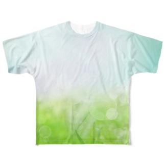 目に優しいフォト Full graphic T-shirts