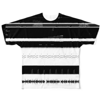 DAW波形ボーダー フルグラフィックTシャツ