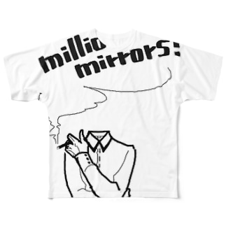 smoking invisible(FGT) Full graphic T-shirts