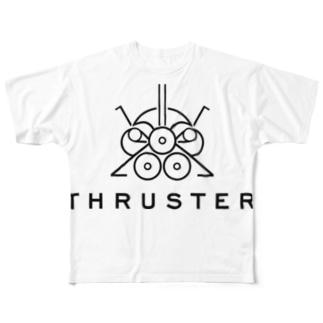 THRUSTER(Black) Full graphic T-shirts