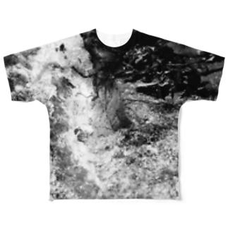 硬そうな水 Full graphic T-shirts