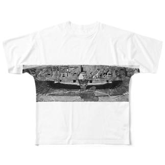イシスの乳首隠し Full graphic T-shirts