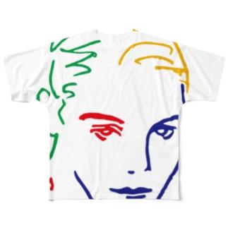 美女14 フルグラフィックTシャツ