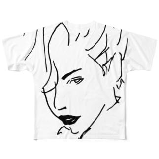 美女06 フルグラフィックTシャツ