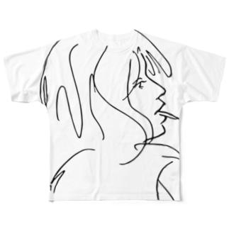 美女18 フルグラフィックTシャツ