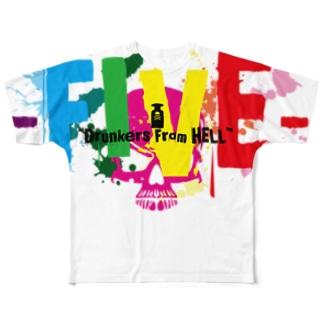 FIVEのサイコTシャツver2 Full graphic T-shirts