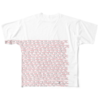趣味の風景シリーズ「ショッピング」 Full graphic T-shirts