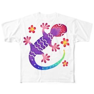 や〜る Full graphic T-shirts