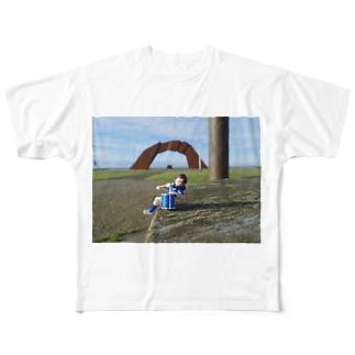 日本最東端、納沙布岬 フルグラフィックTシャツ