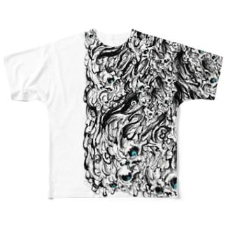 ✙水✙オリジナルグッズ第1弾怨霊 Full graphic T-shirts