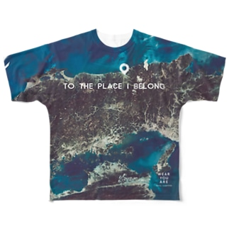鳥取県 鳥取市 Tシャツ 両面 Full graphic T-shirts