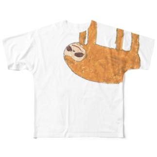 クレヨンなまけもの Full graphic T-shirts