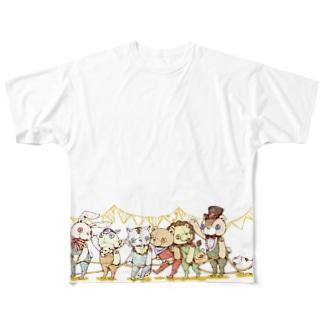 電車ごっこ Full graphic T-shirts