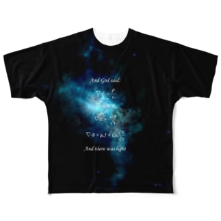 Maxwell方程式よあれ... Full graphic T-shirts
