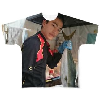 吉田昌史のとったどぉぉぉ Full graphic T-shirts
