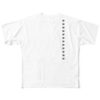 サイズシール付き Full graphic T-shirts