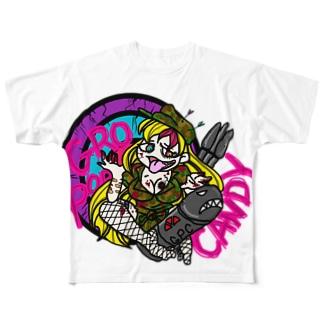 アンデッドアーミーガール Full graphic T-shirts