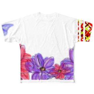 ちょうちょ2 Full graphic T-shirts