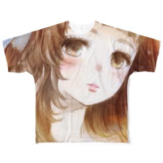 おんなのこ Full graphic T-shirts